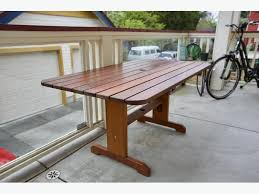 Cedar Patio Table Red Cedar Patio Table Victoria City Victoria