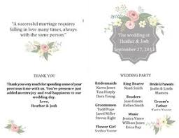 wedding program templates free online 27 free wedding program templates you ll