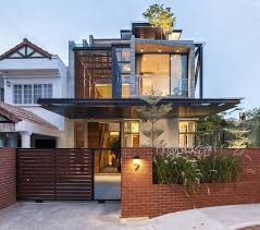 modern semi detached house in singapore architecture pinterest