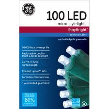 ge staybright micro style led lights cool white 100