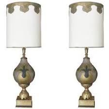 Clear Glass Table Lamp Tall Mid Century Daum Clear Glass Table Lamp With Shade For Sale