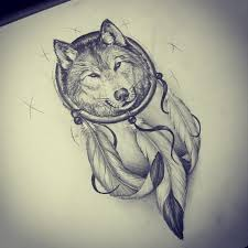 catcher with wolf tattoos drawings clipart library