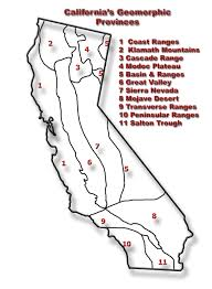 Blank California Map by Geology 3 Geology Of California