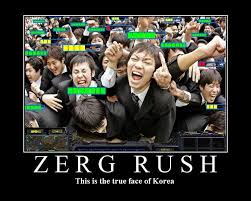 Rush Meme - image 18572 zerg rush know your meme