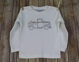 Thanksgiving Shirts For Toddler Boy Pumpkin Truck Shirt Etsy