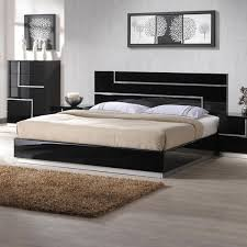 Black Platform Bed Modern Black Platform Bedroom Chicago Modern Furniture Place