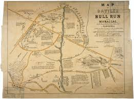 Confederate States Map by Map Of The Battles Of Bull Run Near Manassas World Digital Library