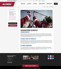 alumni website software imodules software signature events temple