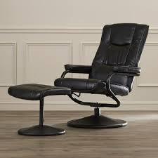 charlton home manual swivel recliner with ottoman u0026 reviews wayfair