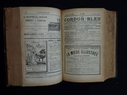 cours de cuisine hebdomadaire le cordon bleu ée 1901 cuisine distel pellaprat livres et chine