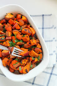 roasted carrots and sweet potatoes in sonnet s kitchen