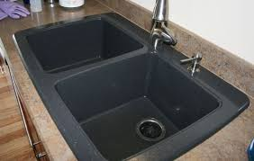 black countertop with black sink composite granite sink awesome battle of the black whimsy gal within