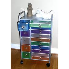 Rolling Ottoman With Storage by Storage Ottoman On Wheels 15 Drawers Rolling Cart Organizer Cd