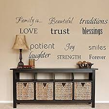 Amazoncom Newsee Decals House Rules Family Love Large Wall - Family room quotes