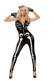 skeleton costume womens women s glow in the skeleton jumpsuit