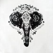 3 4 sleeve elephant print baseball tee in ivory and black