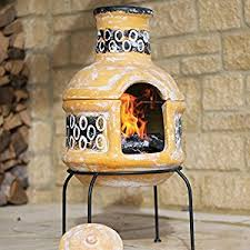 Clay Chiminea Uk Clay Chiminea With Barbecue Grill From La Hacienda Garden