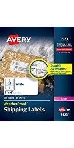 amazon com avery easy peel clear holiday address labels for