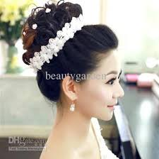 floral headdress wedding bridal jewelry flower lace headpiece