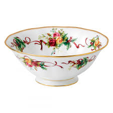 country roses tree serving bowl discontinued