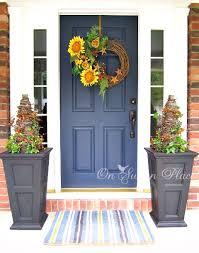 exterior fall front door décor ideas 33 fall front door designs
