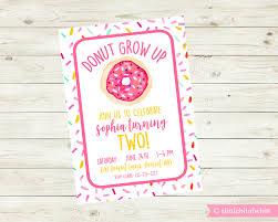 donut grow up party invitation donut birthday invitation