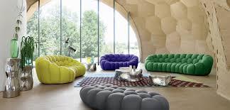 canapé 3 4 places arrondi roche bobois