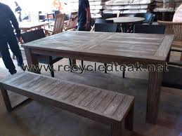 Wooden Patio Tables Rustic Wooden Outdoor Table Outdoor Designs