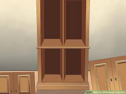 How To Stain Unfinished Cabinets by How To Whitewash Cabinets 12 Steps With Pictures Wikihow