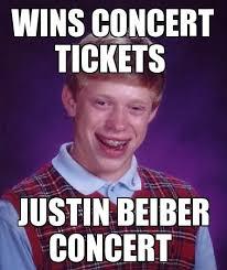 Bad Luck Brian Meme - image concert tickets bad luck brian jpg disney create wiki