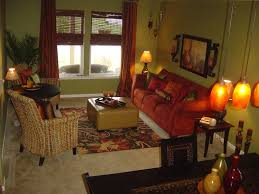 Gold Living Room Decor by Interior Brown And Red Living Room Decoration Theme With Red