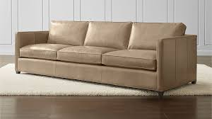 Leather 3 Seater Sofas Dryden Leather 3 Seat 103 Grande Sofa In Sofas Reviews Crate