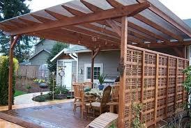 pergola roofing ideas outdoor goods