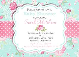 shabby chic baby shower invitation baby shower invitation