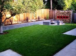 kitchen landscape backyard design with flawless low maintenance