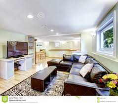 In Law Apartment House Plans Mother In Law Apartment Interior Living Room With Black Leather