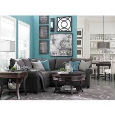 Teal Table L Alex L Shaped Sectional Shapes Room And Gray