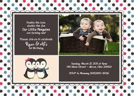 twins 1st birthday invitations images invitation design ideas