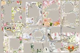 and wedding frames png free with swans silver border pearls gold