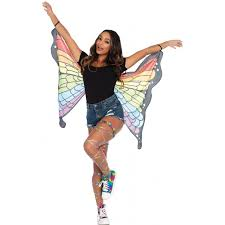rainbow mini butterfly festival wings costume cape