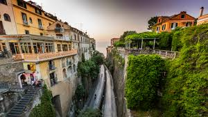 Italy Houses by Pictures Sorrento Italy Crag Stairway Roads Cities Houses 2560x1440