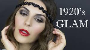 makeup hair tutorial 1920 u0027s flapper youtube