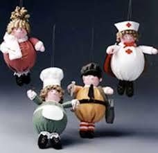 Nurse Christmas Ornament - chef nurse paperboy and mom ornaments