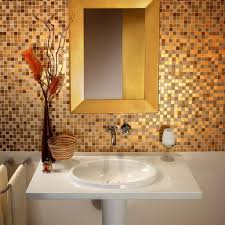 spectacular gold mosaic bathroom tiles artenzo spectacular gold mosaic bathroom tiles sleek white pedestal sink for dazzling bathroom decorating ideas with enchanting
