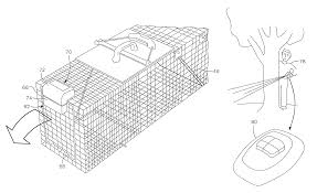 patent us8776430 remote controlled cage trap door opening