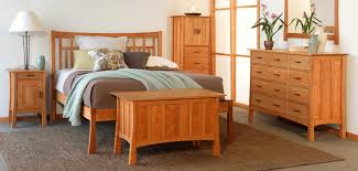Mission Style Bedroom Furniture Cherry Contemporary Craftsman Furniture Collection Vermont Woods Studios