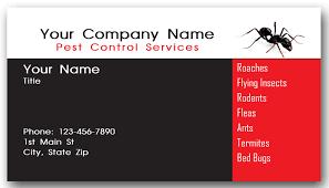 pest service business cards