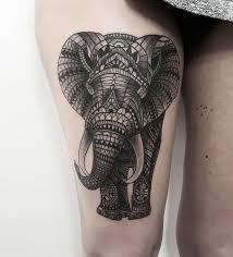 ornamental elephant animal tattoos