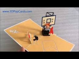 gifts for basketball fans basketball pop up cards the sport fans gift store youtube