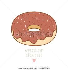 illustration cute cartoon donut on white stock vector 284171828